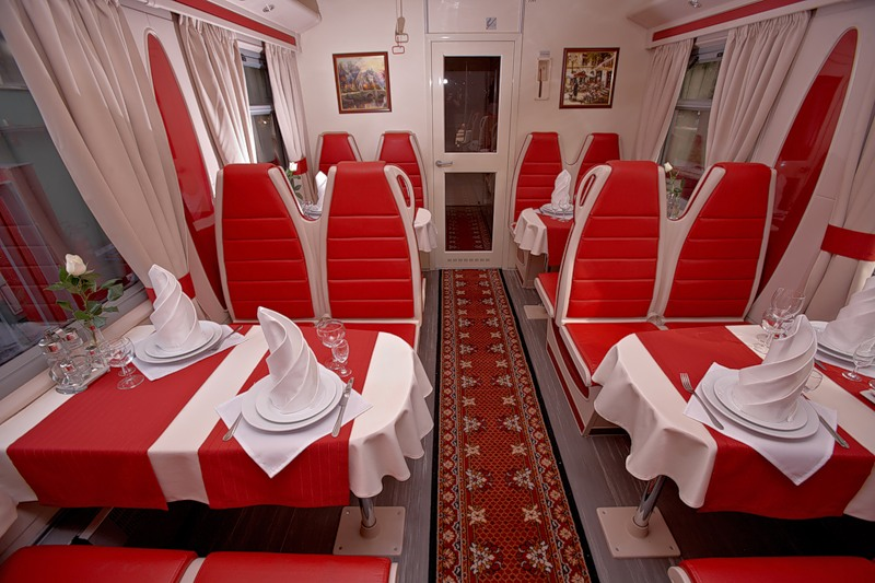 вагон ресторан поезда Москва